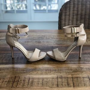 Gianni Bini sand beige leather dress heels